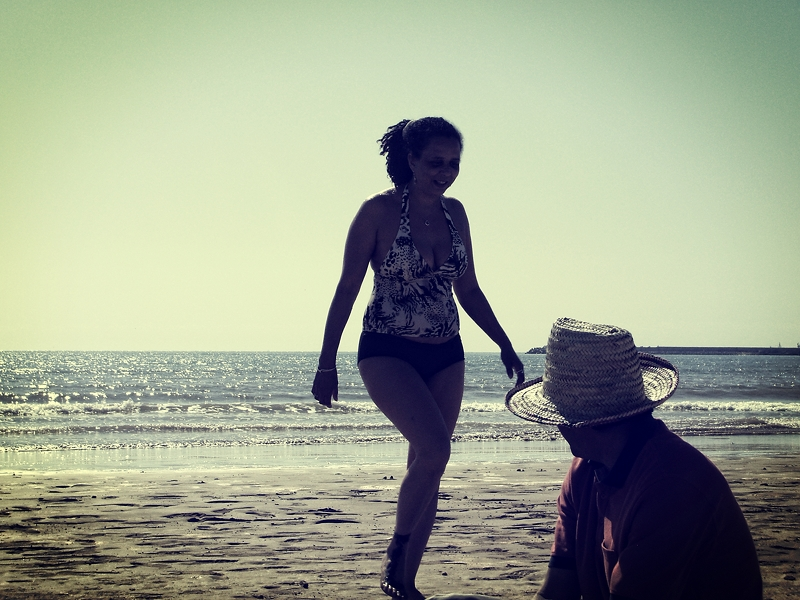 Beach and 2 persons