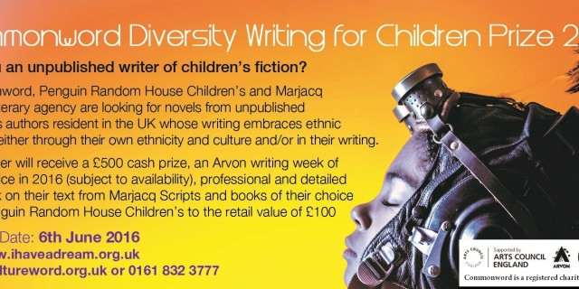 SHORTLIST: Diversity Writing for Children Prize 2016